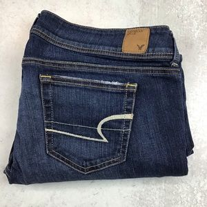 American Eagle 12 Reg Slim Boot Jeans Dark Wash